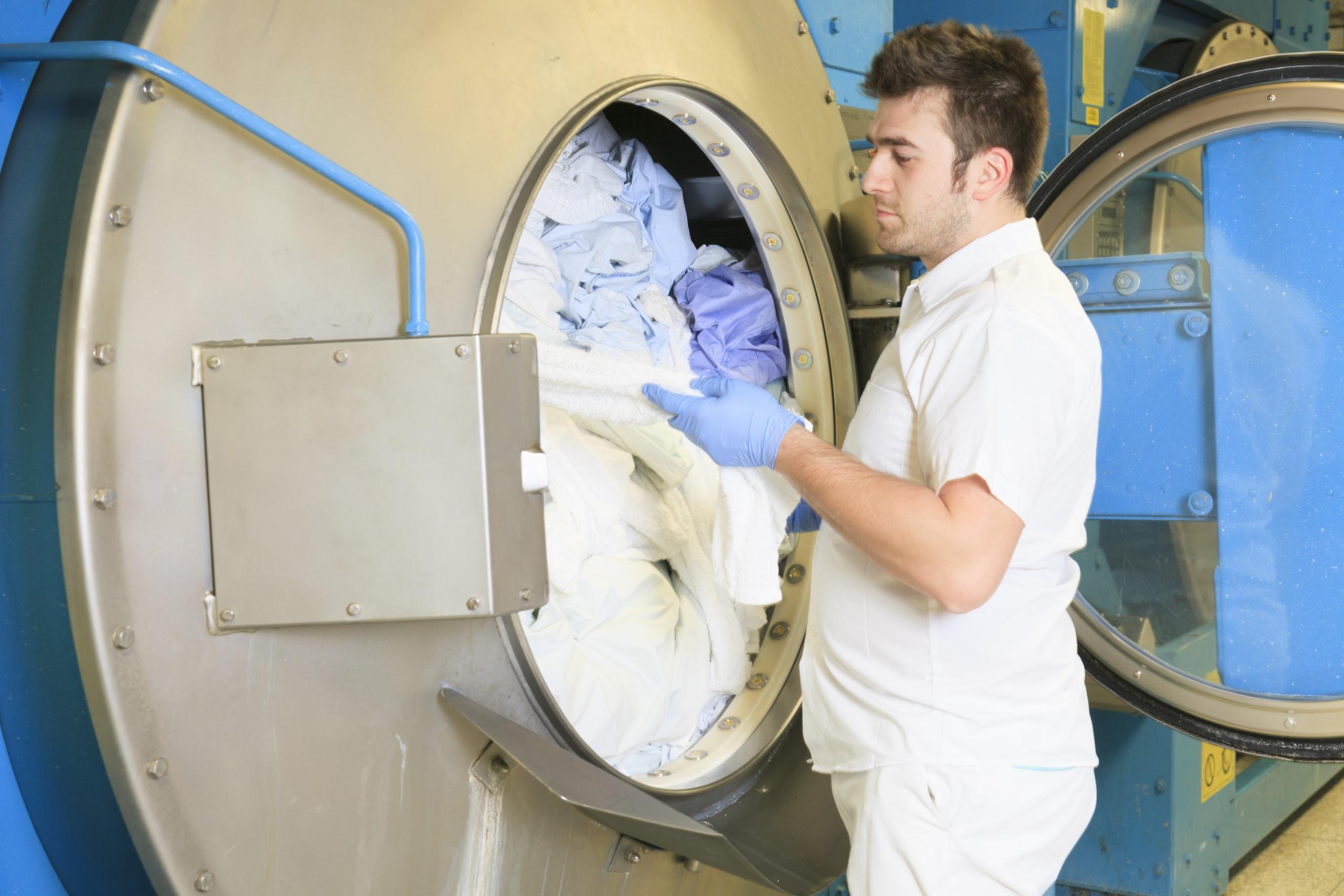 Laundry Washer Hospital - Put on Machine